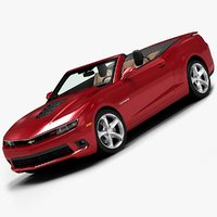 3ds max 2014 chevrolet camaro convertible