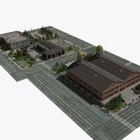 3d model city hall