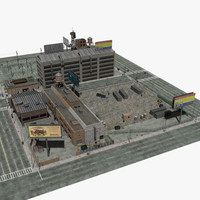 industrial city block 3d model