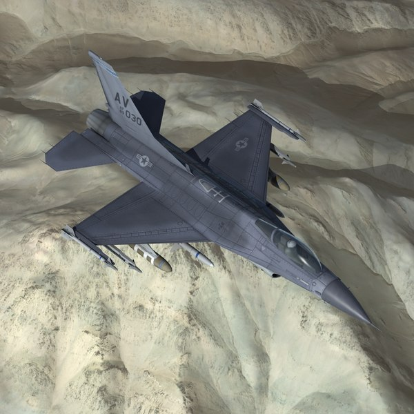 f16c falcon jet fighter 3d max