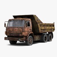 russian truck kamaz 3d model