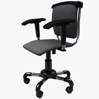 3d office chair - model