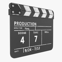 3d model clapboard rigged subdivision