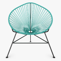 3d model of realistic acapulco chair