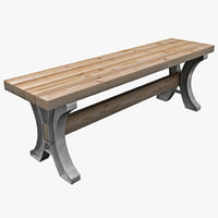 table bench 3d model
