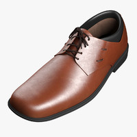 3d model men s formal shoe
