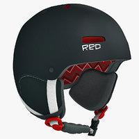 trace snowboard helmet 3d model