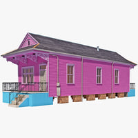 shotgun house 3D models