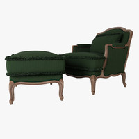 Armchair & pouff Ceppi 2043 - 2044