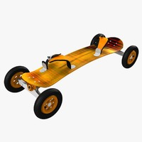 3d model mountainboard mountain board