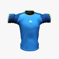 3d model adidas t-shirt