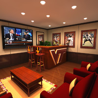 3ds max virginia hokie man cave