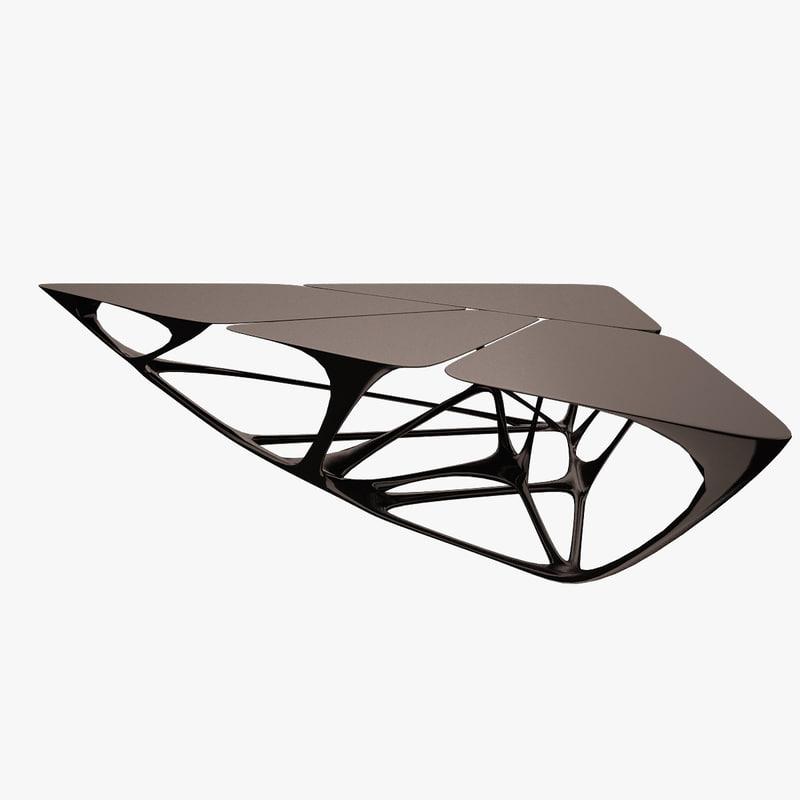 Mesa table 3d model for Mesa table design by zaha hadid for vitra