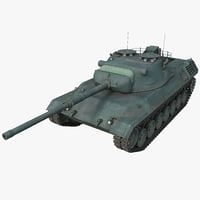 Leopard 1 Germany Main Battle Tank 2 Rigged