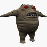 little monster 3d fbx