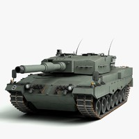 3d 3ds german leopard 2a4 tank