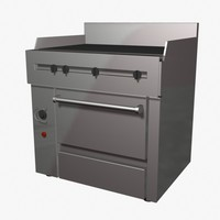 Flat-Top Grill Range Oven