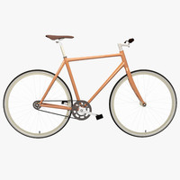 bicycle fixed gear 3d model