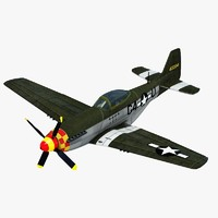 ww2 fighter p51 mustang 3d max