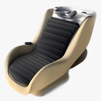 3d hairwash chair modern massage model