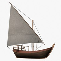 dhow vessel 3d model