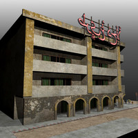 3d model hotel street