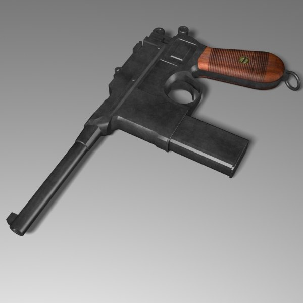 3d pistol mauser model - Mauser C96... by mostlysquare