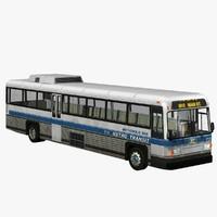 transit bus 3d model