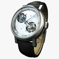 breguet silver watch 3d model