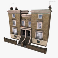 old european house 3d model