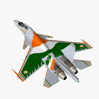 su-30mki iaf russian 3d max