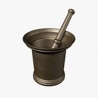 mortar 3d model