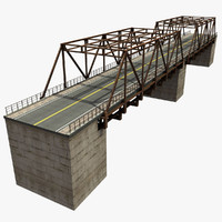 bridge road 3d model