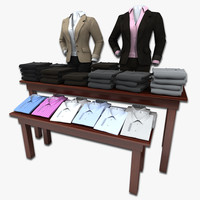 womens suit pants table 3d model