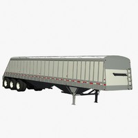 3 axle cornhusker grain 3d 3ds