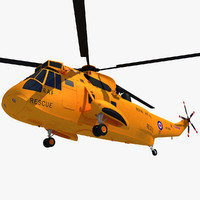 3d westland sea king helicopter