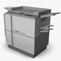 3d model copier office