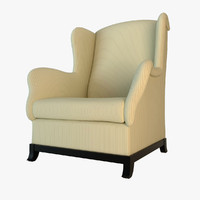 lounge armchair baker 3d model