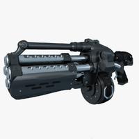3d obj gun gears war grenade launcher
