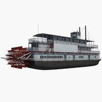 historic steam boat 3d max
