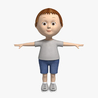 3d model cartoon character little boy