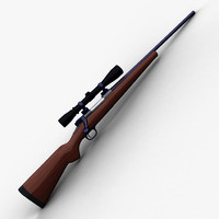 243 deer rifle scope 3d model