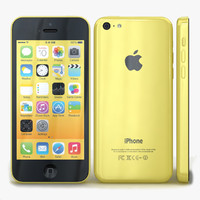 apple iphone 5c yellow 3d 3ds