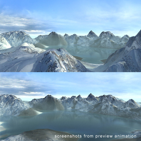 3d mountains landscape terrain model - Landscape Snowy Alaska... by 3D_Multimedia
