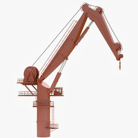 knuckleboom crane 3d max