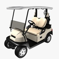 Golf Car with Cobra Golf Club Bag