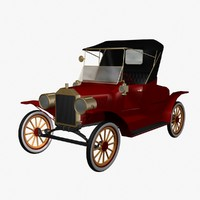 3d car antique model