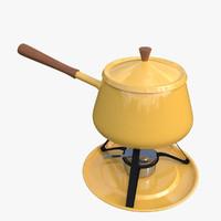 3d model fondue pot