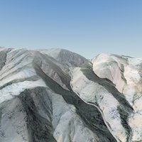 3d afghan valley terrain landscape model