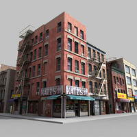 3d fbx buildings city block architectural